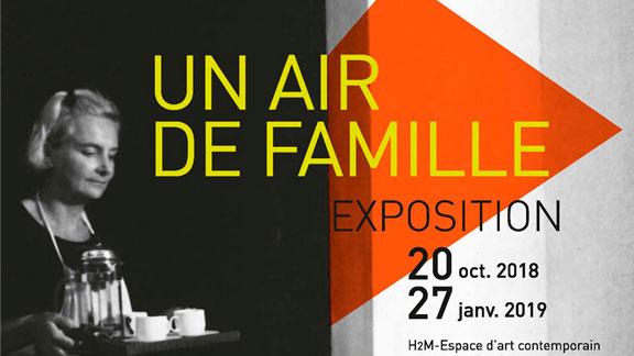 Splitscreen-review Affiche de l'exposition Un air de famille à l'espace d'art contemporain H2M à Brourg-en-Bresse