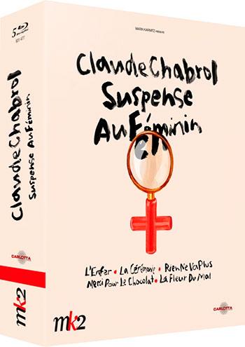 Splitscreen-review Image du coffret Claude Chabrol suspens au féminin édité par Carlotta Films
