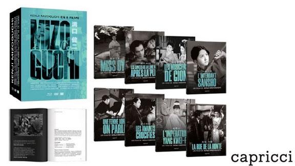 Splitscreen-review Image du coffret Mizoguchi édité par Capricci