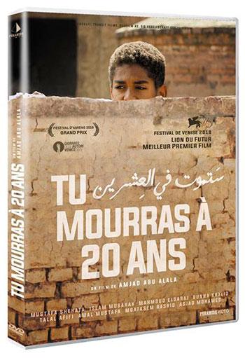 Splitscreen-review Jaquette de Tu mourras à 20 ans de Amjad Abu Alala édité chez Pyramide vidéo