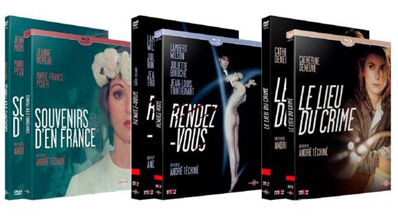 Splitscreen-review Image des éditions de trois films d'André Téchiné édités chez Carlotta Films
